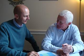 A picture of Colin mentoring a client